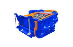 3 shaft industrial shredder 3K 80 HP series hydraulic/electric drive mixed | SatrindTech Srl