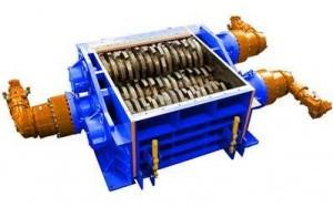 4 shaft industrial shredder 4R 150 HP series hydraulic drive | SatrindTech Srl