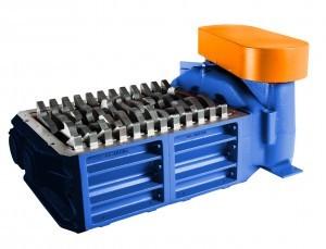 2 shaft industrial shredder F 10 HP series electric drive | SatrindTech Srl