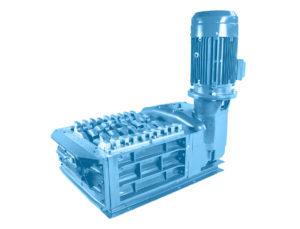 2 shaft industrial shredder F 15 HP series electric drive   SatrindTech Srl