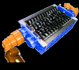 2 shaft industrial shredder 2R 50 HP series electric drive | SatrindTech Srl
