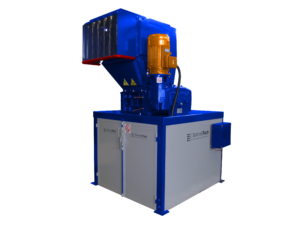2 shaft industrial shredder F 15 HP series electric drive with grinder | SatrindTech Srl