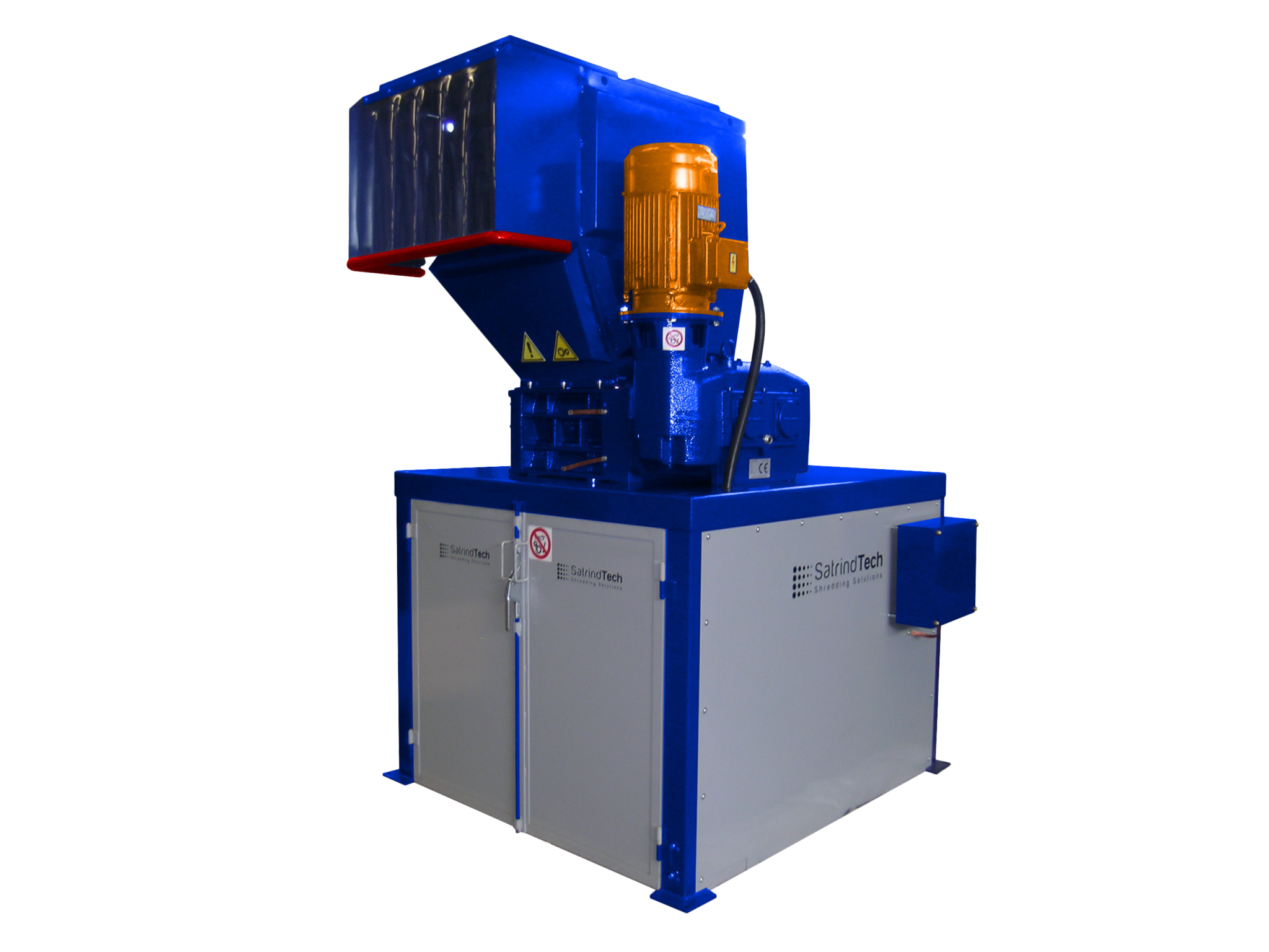2 shaft industrial shredder F 15 HP series electric drive with grinder | SatrindTech Srl