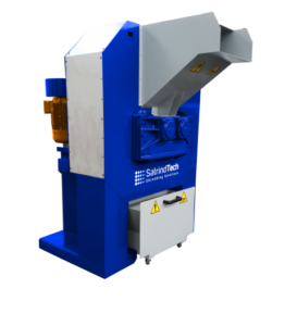 2 shaft industrial shredder F 10 HP series electric drive with ricirculator | SatrindTech Srl