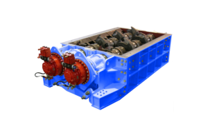 2 shaft waste crusher T30 400 HP series hydraulic drive | SatrindTech Srl
