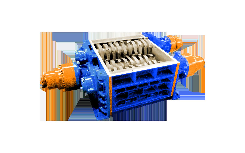 3 shaft industrial shredder 3R 125 HP series hydraulic drive | SatrindTech Srl