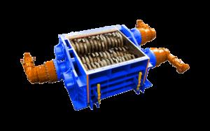 3 shaft industrial shredder 3R 320 HP series hydraulic drive | SatrindTech Srl