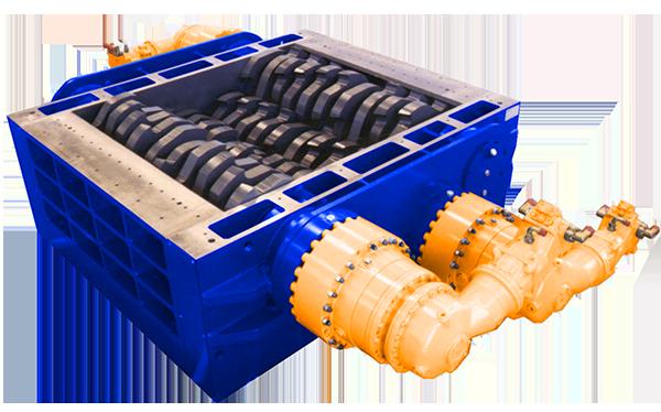 4 shaft industrial shredder 4R 400 HP series hydraulic drive | SatrindTech Srl