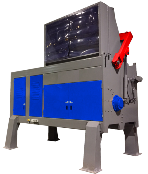 Single shaft industrial shredder 1K 65 series electric drive | SatrindTech Srl