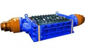 2 shaft industrial shredder 2R 75 HP series hydraulic drive | SatrindTech Srl
