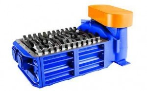 2 shaft industrial shredder F 10 HP series electric drive   SatrindTech Srl