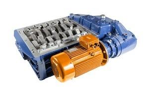 2 shaft industrial shredder K 25 HP series electric drive | SatrindTech Srl