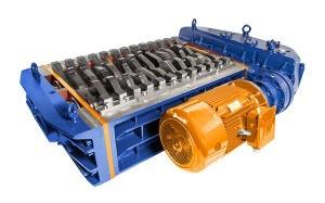 2 shaft industrial shredder K 30 HP series electric drive | SatrindTech Srl