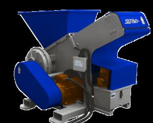 Single shaft industrial shredder 1K 28 series electric drive | SatrindTech Srl