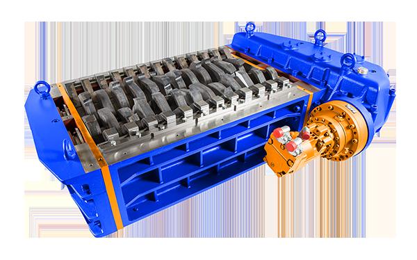 2 shaft industrial shredder K 50 HP series hydraulic drive | SatrindTech Srl