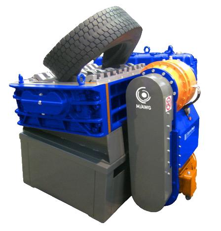 2 shaft industrial shredder K 50 HP series electric drive with special transmission | SatrindTech Srl