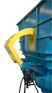 2 shaft industrial shredder K 50 HP series hydraulic drive with hopper with RAM | SatrindTech Srl