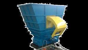 2 shaft industrial shredder K 50 HP series hydraulic drive with hopper with RAM   SatrindTech Srl