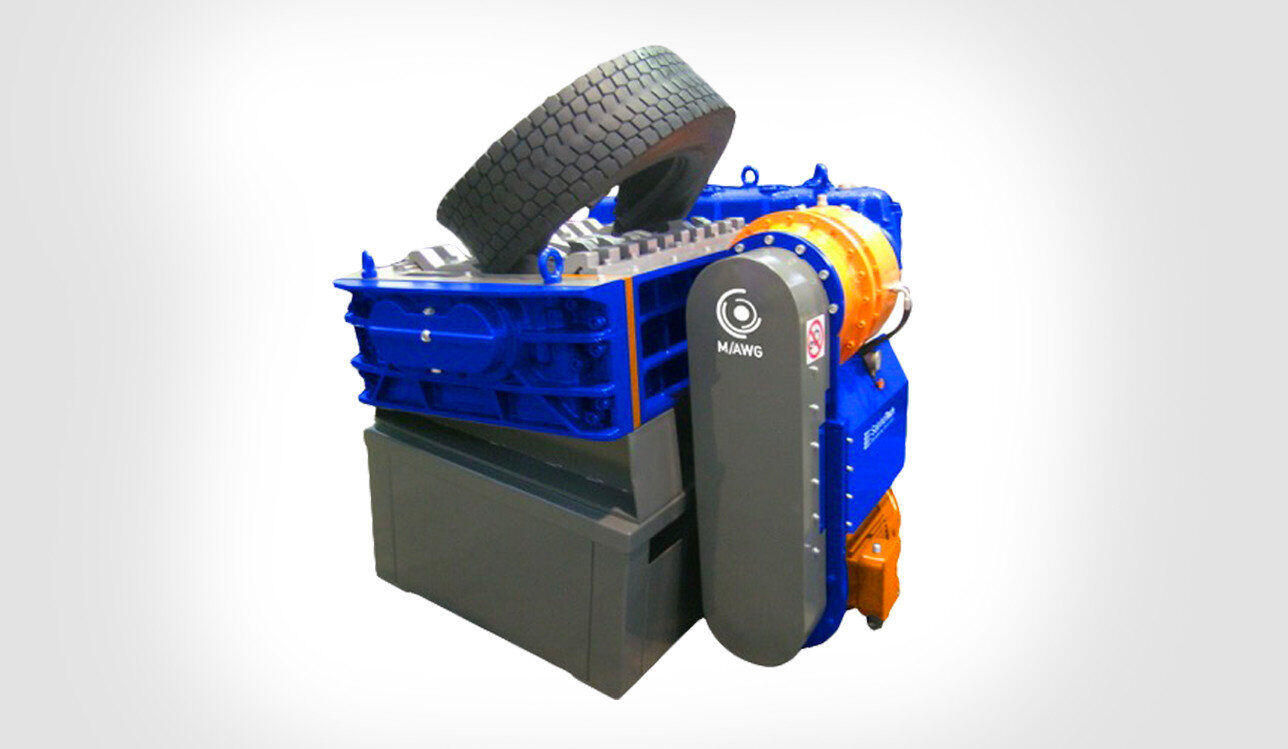 2 shaft industrial shredder K 50 HP series electric drive with special transmission | SatrindTech Srl