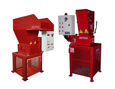 2 shaft industrial shredders S3 4 HP and F 10 HP series electric drive Marpol compliance | SatrindTech Srl