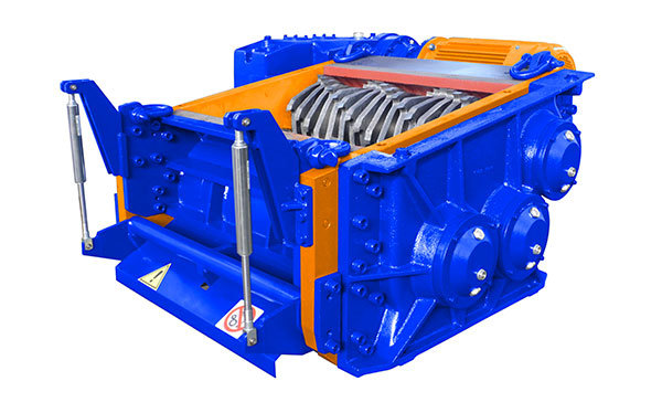 3 shaft industrial shredder 3K 80 HP series hydraulic/electric mixed drive | SatrindTech Srl