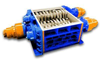 Broyeur industriel 3 arbres 3R 125 HP moteur hydraulique | SatrindTech-France Group SEREX