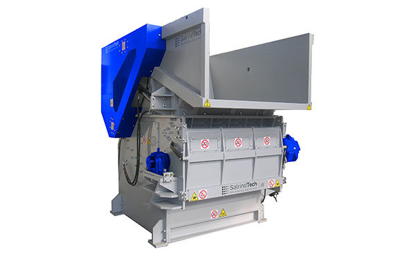 Single shaft industrial shredder 1K 46 series electric drive | SatrindTech Srl
