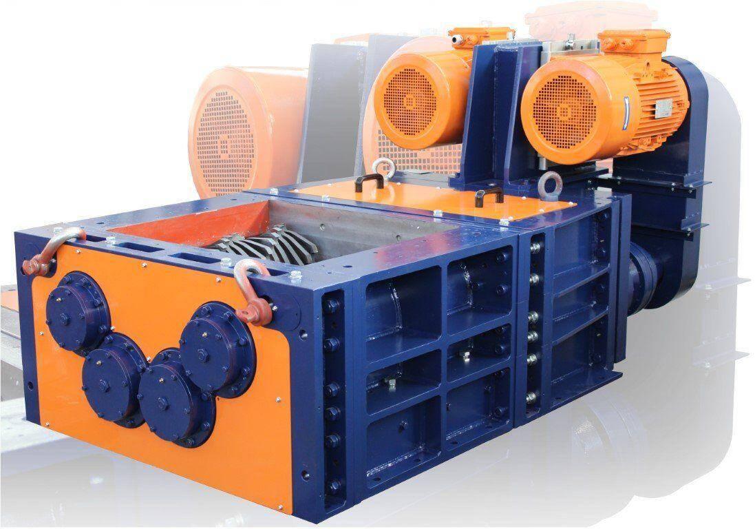 4-shafts industrial shredders 4S 40÷60 HP series electric drive | SatrindTechSrl