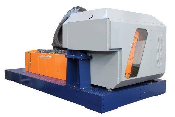 Broyeur industriel 2 arbres 150 HP moteur électrique avec transmission automatique | SatrindTech Srl