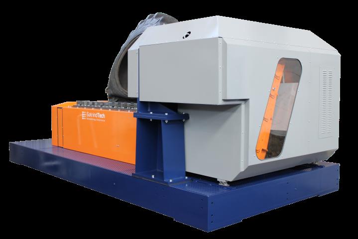 Triturador industrial 2 ejes 150 HP accionamiento eléctrico con transmisión automática | SatrindTech Srl